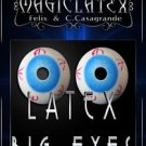 Deluxe LATEX RUBBER JUMBO EYES 1 Pair Big Eyeballs Prop Cartoon Fake Clown Gag