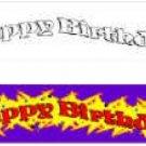 BIRTHDAY BANNER SILKS SET Kids Party Magic Trick Clown