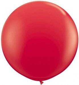 "5 Pack BIG REAL RED 17"" BALLOONS Color Latex Party Gift Jumbo Giant Display Prop"