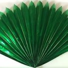 "23"" GREEN MYLAR PRODUCTION FAN Sleeve Appearing Magic Trick Prop Spring Open BIG"