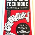 BASIC CARD TECHNIQUE BOOK Playing Deck Magic Trick For Everyone Magician Force