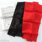SILK ON SASH Stage Magic Trick Clown Streamer Black Scarf Appearing Magician NEW