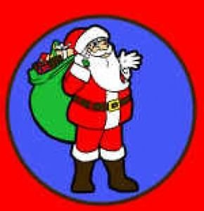 SANTA IN CHIMNEY CHRISTMAS SILK SET of 4 Magic Trick Kid Xmas Stage Clown Prop