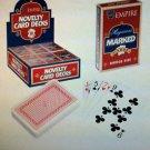 MARKED CARD DECK Magic Trick Magician Markings Playing Set Joke Gag Secret Game