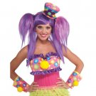CIRCUS SWEETIE CLOWN MINI TOP HAT Costume Adult Polka Dot Pink Cap Flower Girls