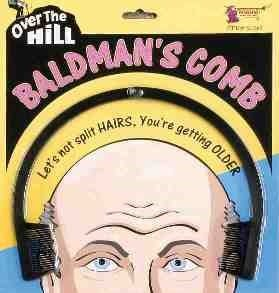 1 BALD MANS COMB Over The Hill Old Age Balding Hair Joke Prank Gag Gift Funny
