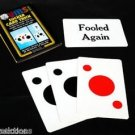 Comedy SUCKER MAGIC CARD TRICK Set Playing Joke Gag Fooled Again Beginner Spot