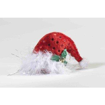 CHRISTMAS MINI SANTA HAT HAIR CLIP ON Elf Stocking Costume Adult Sock MISTLETOE