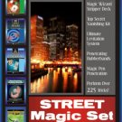Deluxe STREET MAGIC KIT + 5 BOOKS Trick Set Beginner Magician Pen Penetration