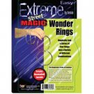 WONDER RINGS Metal Chinese Linking Rings Street Magic Trick 4 Set Hoops Kit Link