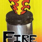 Silver BRASS FIRE CAN & LID Flames Stage Magic Trick Flaming Production Prop