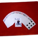 11 x 16 RED MAGIC CLOSE UP PAD Large Magician Utility Mat Card Coin Table Trick
