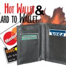 Leather HOT FIRE CARD TO WALLET COMBO Street Magic Trick Flaming Hip Flame Gag