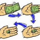 ANIMATED SELF FOLDING DOLLAR BILL Street Magic Trick Money Close Up Gag Magician