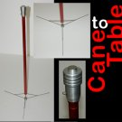 CANE TO TABLE Magnetic Top Magic Stand Stage Magician Legs Magnet Production