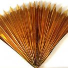 "23"" GOLD MYLAR PRODUCTION FAN Sleeve Appearing Magic Trick Prop Springs Open BIG"