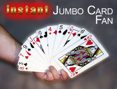 INSTANT JUMBO CARD FAN Magic Trick Magician Playing Cards Laminated Production