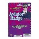 AVIATOR PILOT BADGE Eagle Wing Pin Air Force Costume Lapel Silver Plastic Emblem