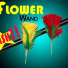 Metal FLASH FLOWER WAND Feather Clown Magic Trick Kid Show Repeat Color Change