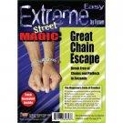 GREAT CHAIN ESCAPE With Lock & Key Magic Trick Magician Houdini Metal Beginner