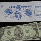SIX BILL REPEAT Paper Money Magic Trick Close Up Easy Bar Multiplying Dollars