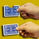 BITING THRU CARD BITE OUT AND BACK GIMMICK BICYCLE Magic Trick Folding Gag Joke
