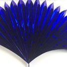 "23"" BLUE MYLAR PRODUCTION FAN Sleeve Appearing Magic Trick Prop Springs Open BIG"