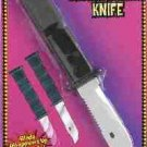 DELUXE LARGE RETRACTABLE KNIFE Prank Joke Gag Trick Fake Weapon Dagger Blade Toy