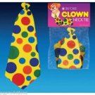 "21"" BIG JUMBO FOAM CLOWN LONG NECK TIE Circus Color Polka Dots Yellow Funny Joke"