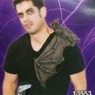 "16"" BAT ON SHOULDER BUDDY Rubber Jumbo Wings Scary Halloween Decoration Costume"