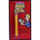1 FAKE RUBBER PENCIL TIP Bending School Office Joke Prank Gag Toy Yellow Wood