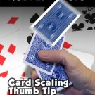 CARD SCALING RUBBER VINYL THUMB TIP Textured Fake Magic Trick Playing Flying