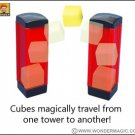 MAGIC TRAVELING CUBES Trick Toy Pocket Magician Tubes Flying Boxes Jumping Set