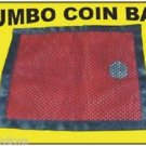 JUMBO COIN BAG Produce Vanish Magic Trick Close Up Money Mesh Pocket Production