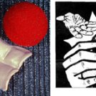 SANADA GIMMICK Goshman Fake Magic Trick Sponge Ball Gosh Magician Close Up Red