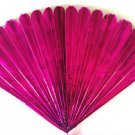 "23"" PINK MYLAR PRODUCTION FAN Sleeve Appearing Magic Trick Prop Springs Open BIG"