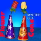 FLOWER & CONE MYSTERY SET Genii Rose kid Magic Trick