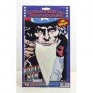 UNCLE SAM PATRIOTIC BEARD White Fu Manchu Costume Fake Facial Hair American USA