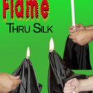 CANDLE FLAME THROUGH SILK Stage Magic Trick Magician Thru Fire White Penetration