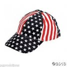 PATRIOTIC CANVAS BASEBALL HAT USA Stars Stripes Flag Cap Adult Uncle Sam RWB US
