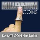 KARATE COIN US HALF DOLLAR Magic Trick Through Finger .50 Close Up Money Pierce