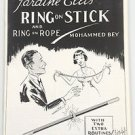 RING ON STICK BOOKLET MAGIC TRICK Wand & ELLlS Routine Pamphlet Book Magician