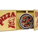 PIZZA DELIVERY BOX PALACE Magic Trick Kid Show Sucker Effect Wood Stage Gag NEW