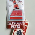 TELESCOPIC BICYCLE CARD BOX DECK Flying Shoots Out of Hand Magic Trick Gag Joke