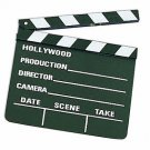 "8"" SMALL HOLLYWOOD MOVIE CLAPPER BOARD Director Camera Prop Wood Film Slate TV"