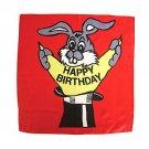 "18"" HAPPY BIRTHDAY RED SILK Bunny Rabbit Top Hat Kid Show Magic Trick Clown Prop"