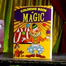 SNEAKY CLOWN COLORING BOOK OF MAGIC Kid Show Trick Magician Picture Change Color