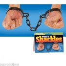 WRIST SHACKLES HANDCUFFS Pirate Prisoner Jail Costume Toy Houdini Police Chain