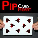 JUMBO PIP RED HEART CARD Magnetic Magnet Metal Magic Trick Playing Move Change