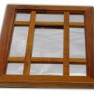 DELUXE MELTING MIRROR Wood Silk Thru Glass Penetration Magic Trick Illusion Prop